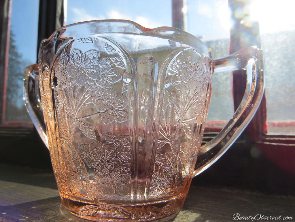 Depression Glass Sugar Bowl beautyobserved.com