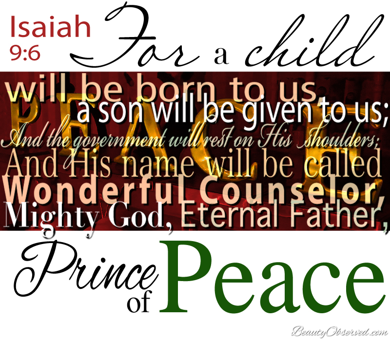 Visit BeautyObserved.com for more memes. Isaiah 9:6 For a child will be born to us...
