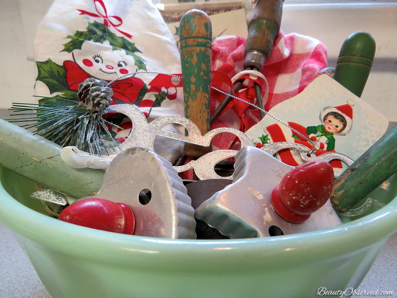 Christmas Kitchen Vintage Christmas Kitchen Beauty Observed