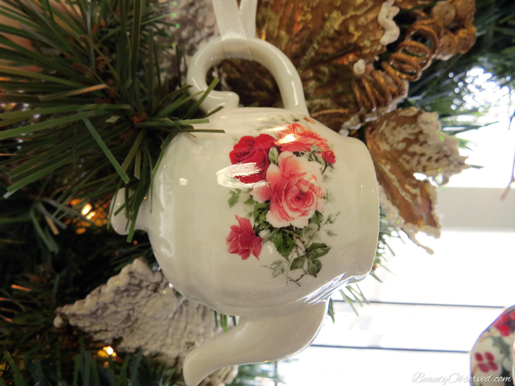 Visit BeautyObserved.com for a little bit of respite in this busy world. Beautiful photography and inspirational memes. #christmas #teapot #ornament