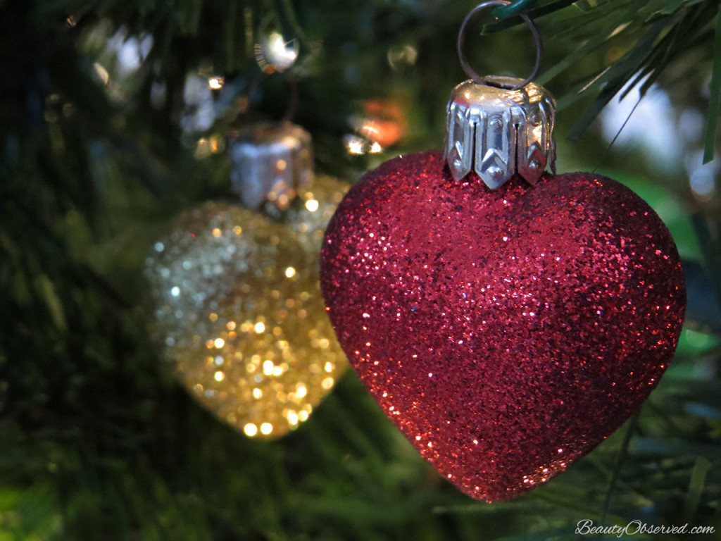 vintage christmas ornaments www.beautyobserved.com  Shiny and bright