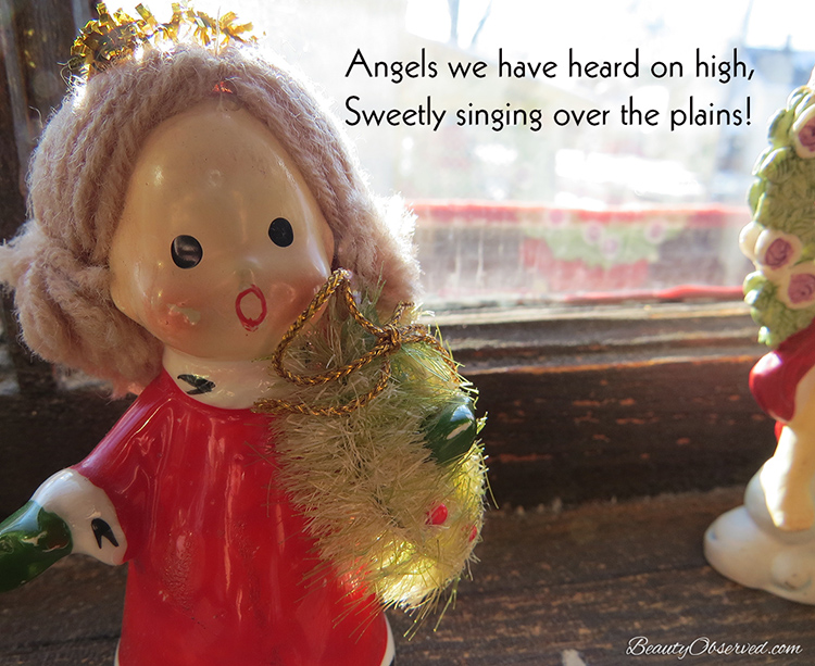 Visit BeautyObserved.com for more memes. #vintageangel Angels we have heard on high, sweetly singing over the plains.