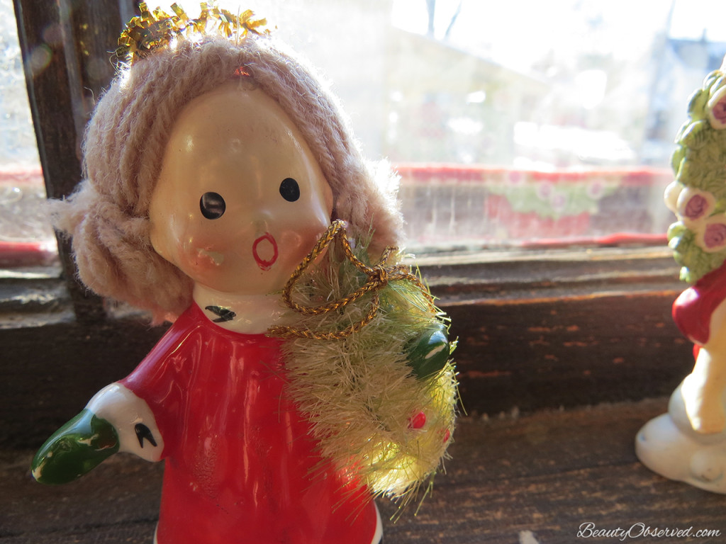 Visit BeautyObserved.com for a little bit of respite in this busy world. Beautiful photography and inspirational memes. #vintageangel #Christmasangel