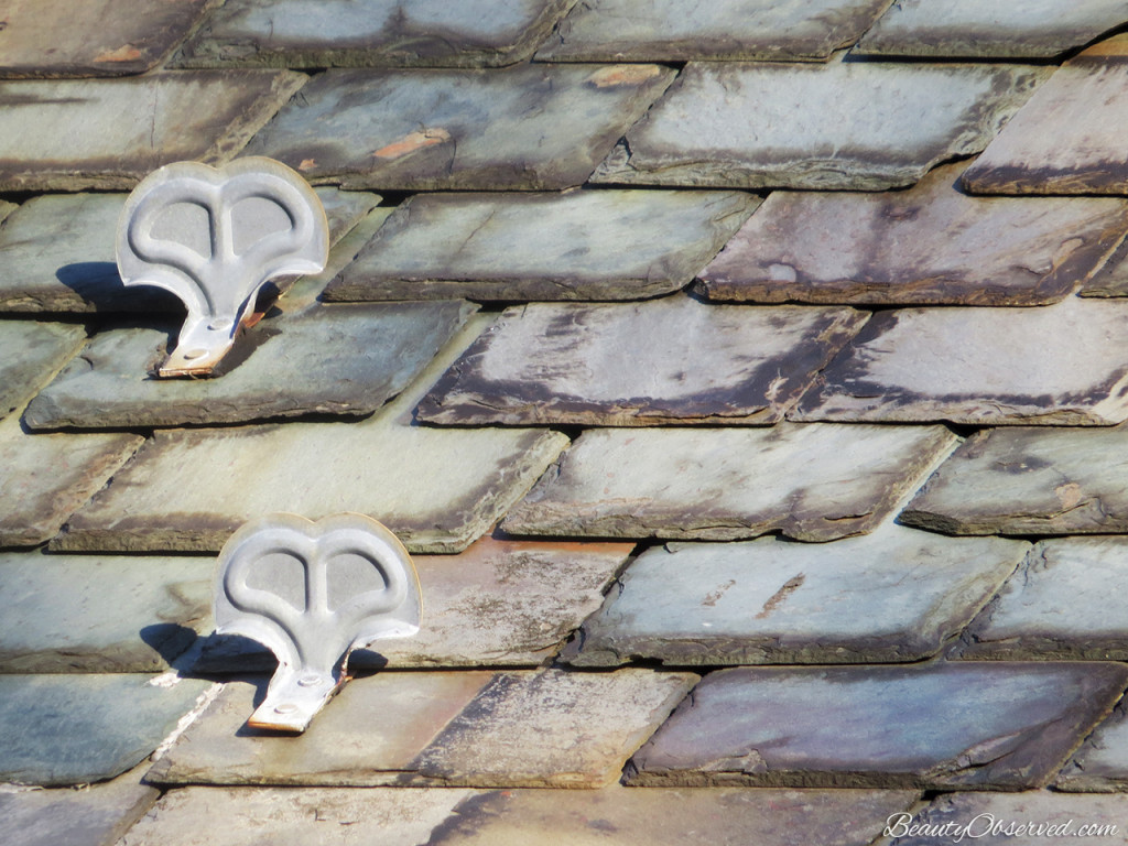 Slate roof with ice guards. Beauty Observed
