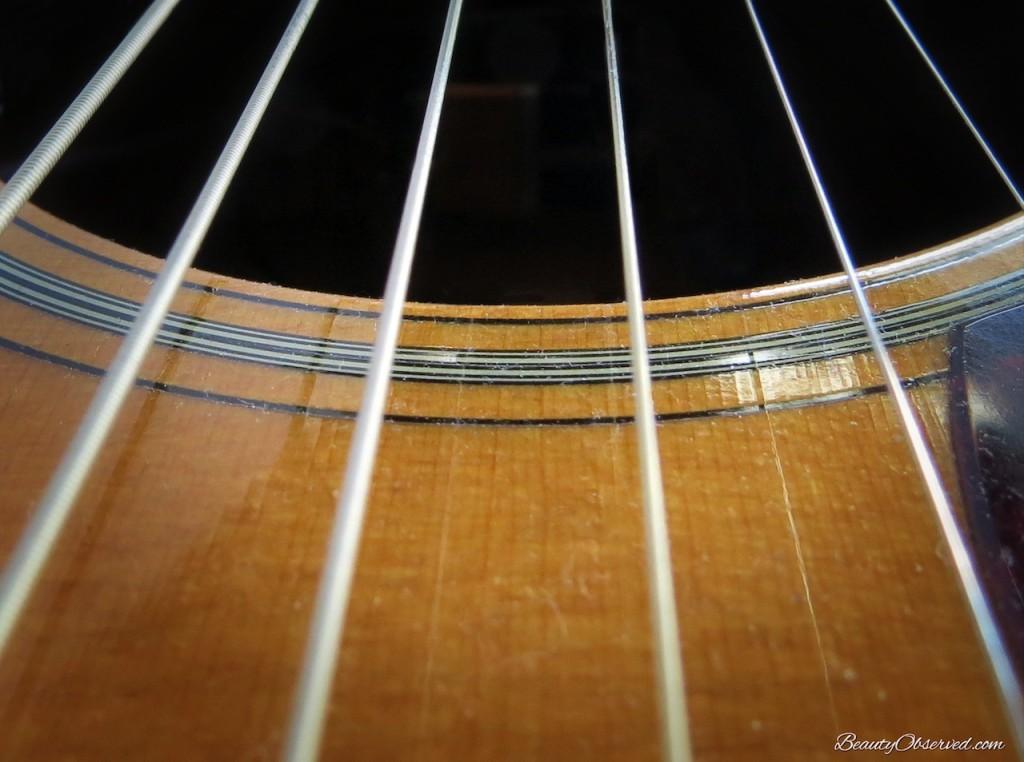 Macro shot of #Martinguitar strings D-16