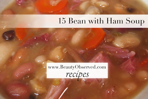 15 bean with ham soup recipe