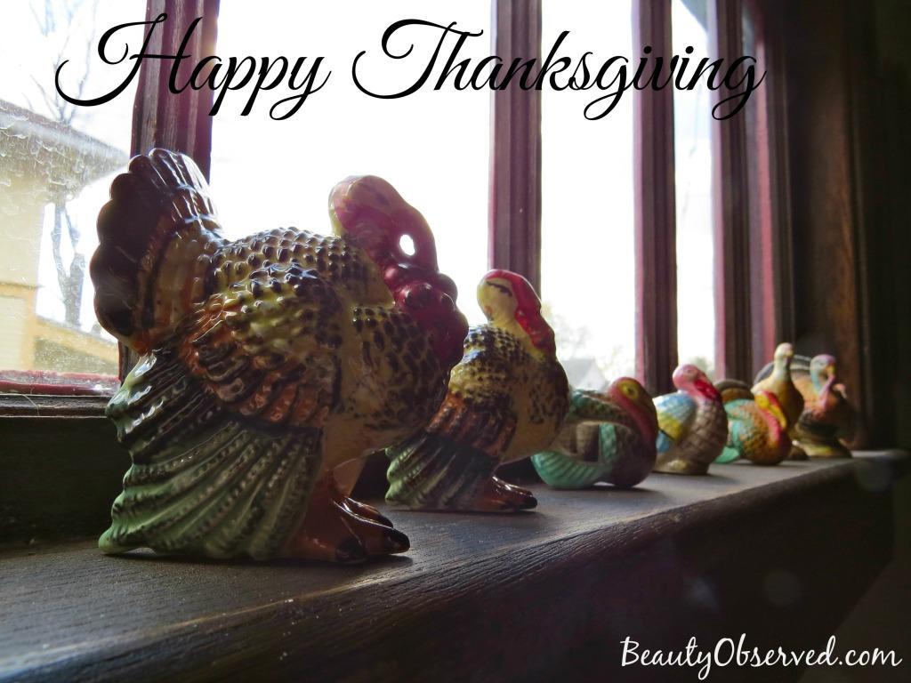 Antique Turkeys Happy Thanksgiving